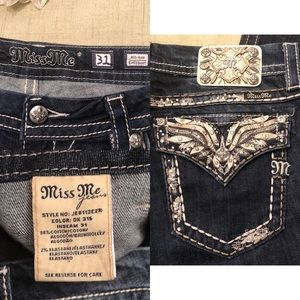 Miss Me Jeans - Miss Me Bling Bootcut Dark Wash Stretch Jeans
